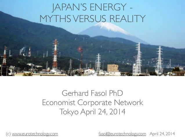 Japan's Energy - myths versus reality (keynote at The ...