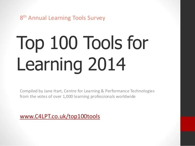 Top 100 Tools for Learning 2014