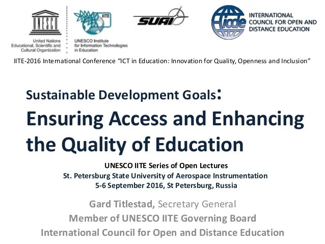 Access and enhancing the quality of higher education