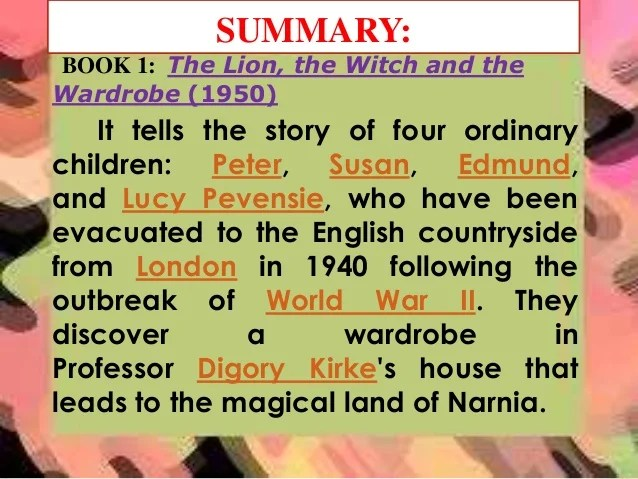 Chronicles Narnia Book 2 Summary