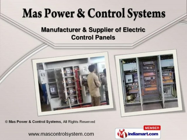 Electrical   Distribution Control Panel by Mas Power   Control System