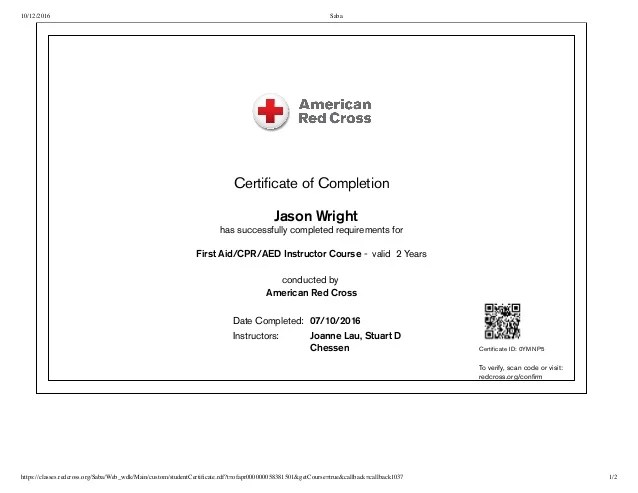 American Red Cross Cpr Certification Lost Card Giftsite