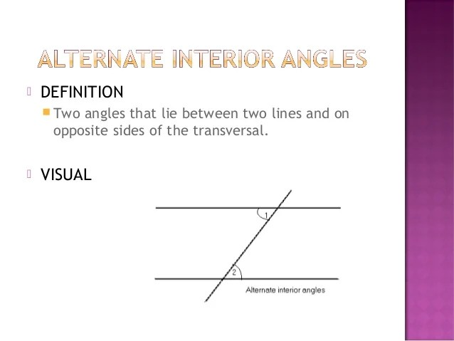 Definition Consecutive Interior Angles
