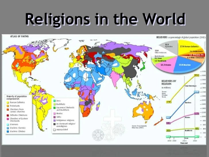 Religion Map Of Asia.East Religious Map Asia