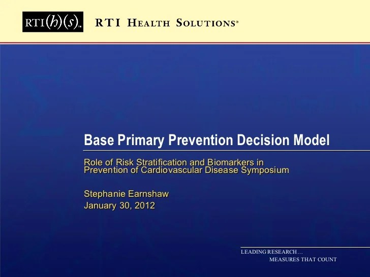 Base Primary Prevention Decision Model
