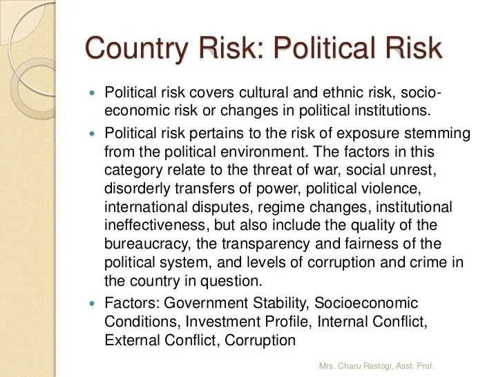 3. International Trade Environment, Country Risk Analysis ...