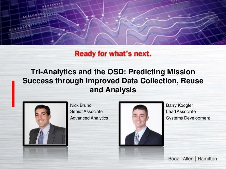 Predicting Mission Success through Improved Data ...