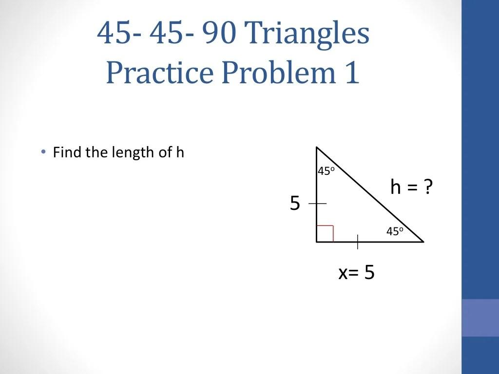 45 45 90 Triangles