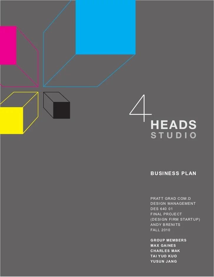 4 heads studio business plan