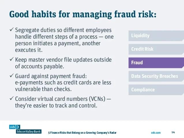 Svb credit card login rezzasite 5 finance risks that belong on a growing company s radar colourmoves