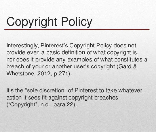 Copyright Policy Interestingly