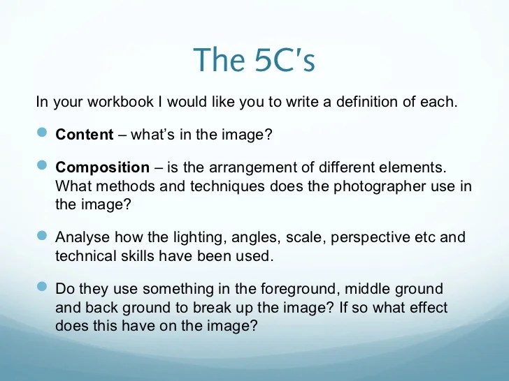 How to analyse photography work