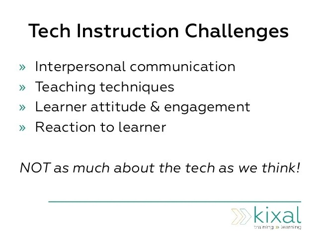 6 skills tech instruction