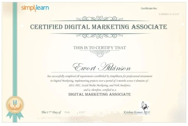 Besides, you will have lifetime access to the course, along with 24/7 support and. Digital Marketing Certified Associate Professional Certificate