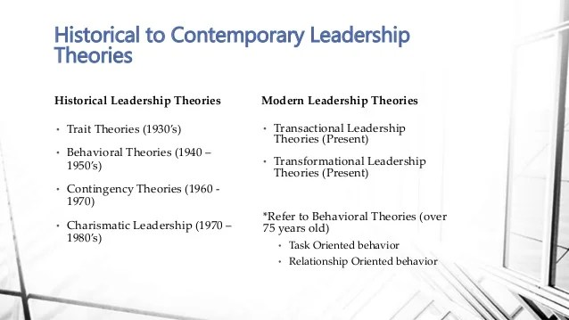 2015 Contemporary Leadership Theories BC
