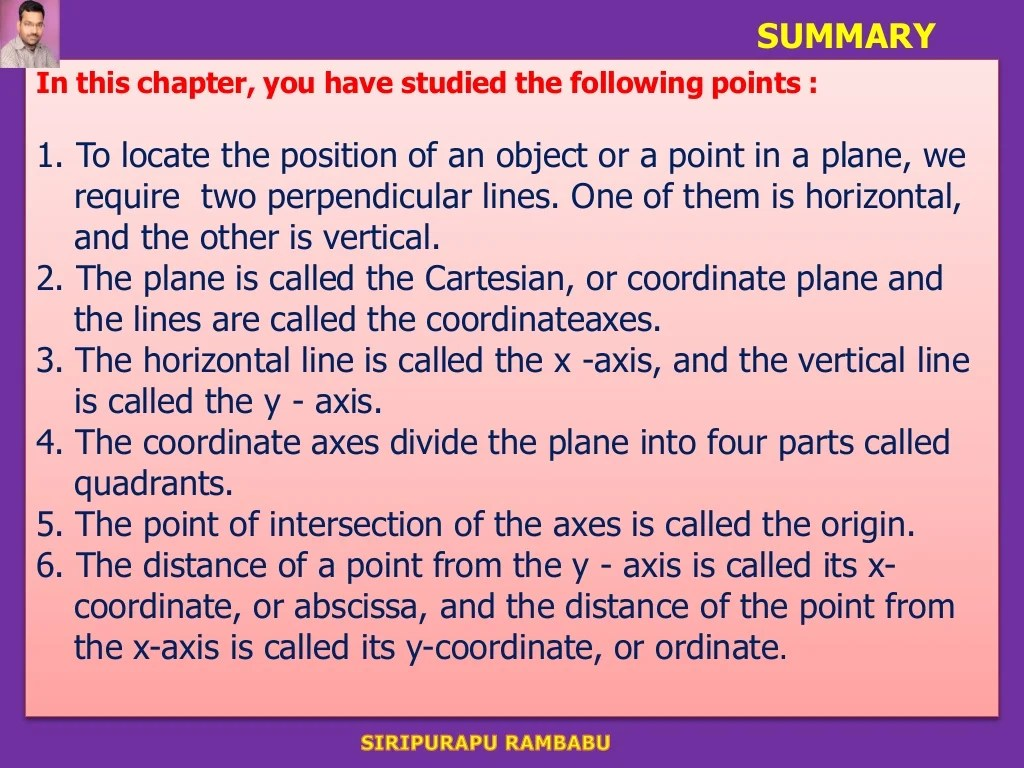 Ppts For 9th Class Coordinate Geometry Introduction C