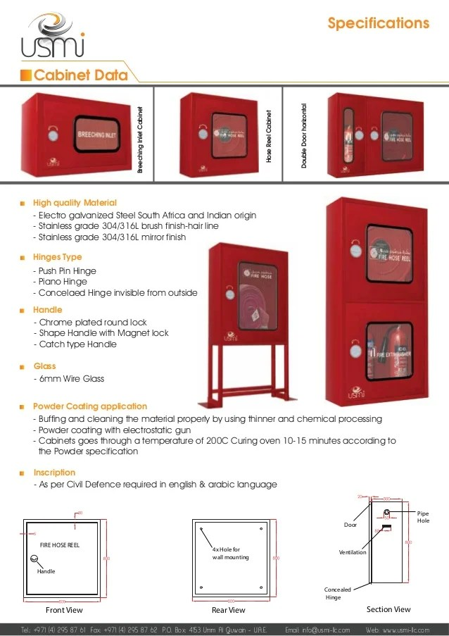 Specifications Cabinet Data Handle Fire Hose 2017 W Pdf