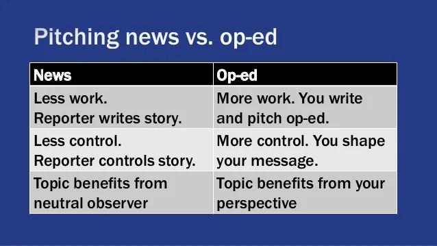 Write a guest opinion column