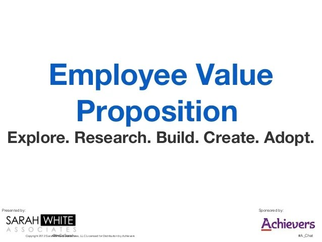 Employee Value Proposition In Corporate Human Resources