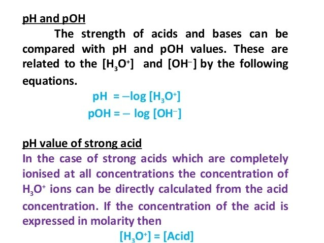 And Values Bases Ph Acids