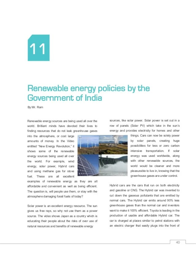 Green energy essay