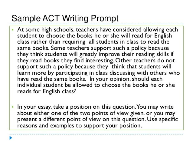 sample act essay prompts