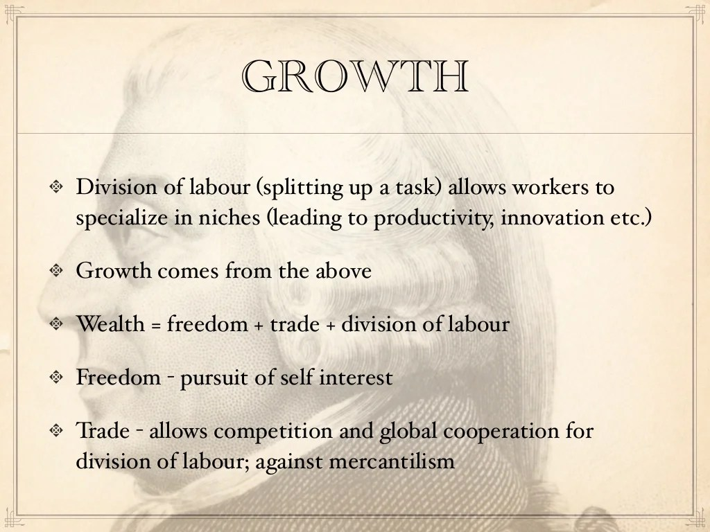 Growth Division Of Labour Splitting