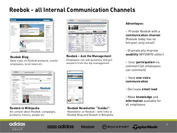 Reebok - all Internal Communication