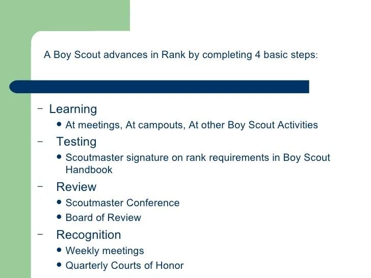 Boy Scout Rank Advancement Board