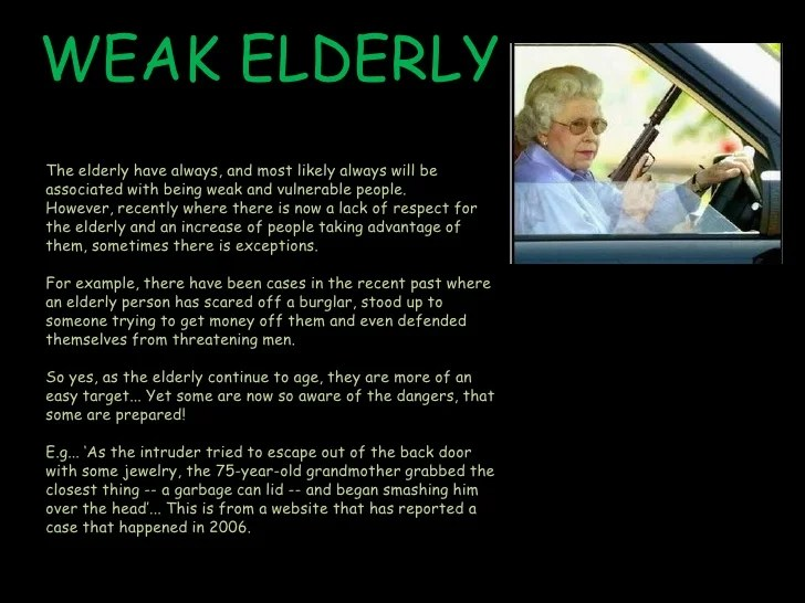 Stereotypes Common Older People