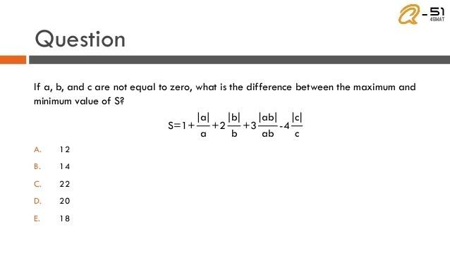 Hard GMAT Math Question - Absolute Value
