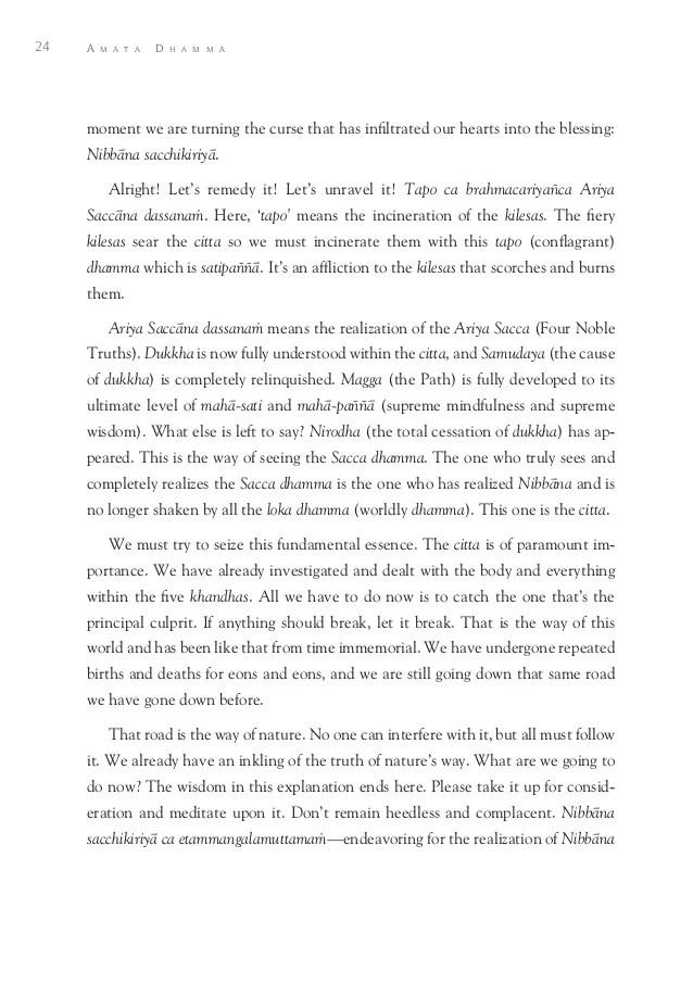 Amata dhamma-Six talks on dhamma