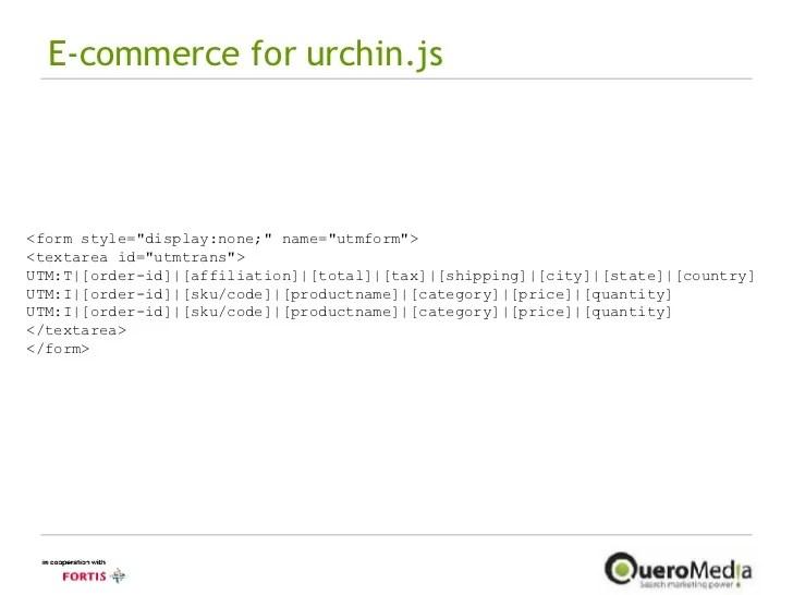E-commerce for urchin.js