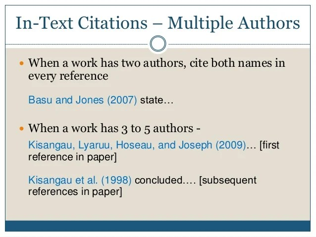 Cite Multiple You How Authors Do