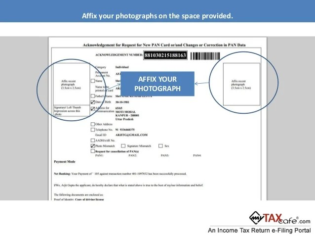Send Pan Card Application Form Infocard Co