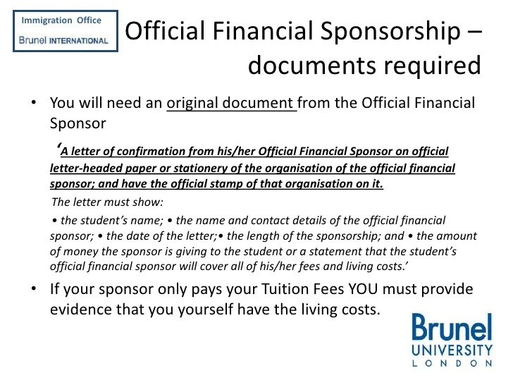 Sponsorship Letter For Uk Student Visa Sample | mamiihondenk org