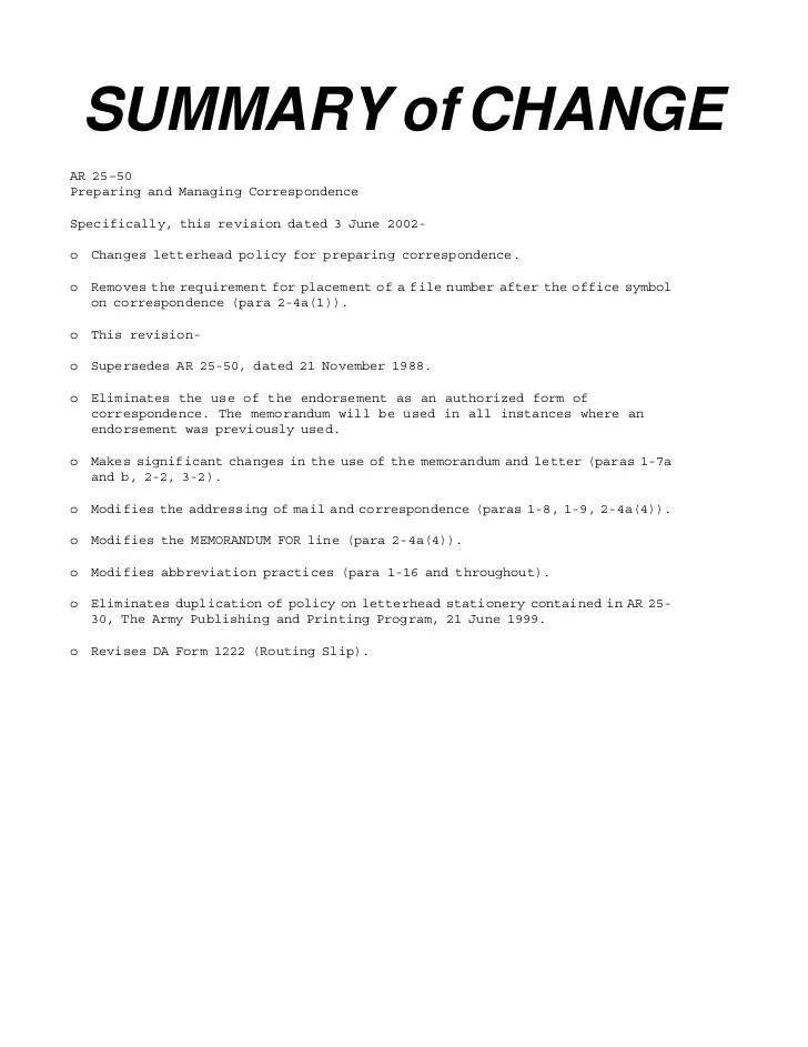 Ar 1 25 6 50 Memorandum