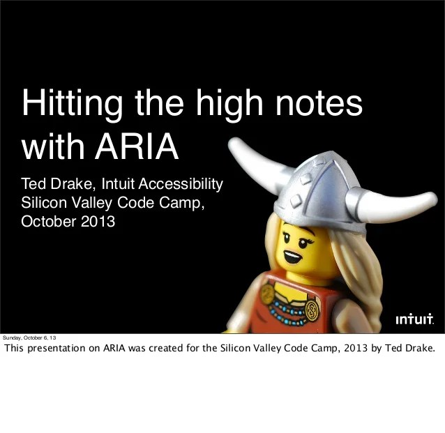 Hitting the accessibility high notes with ARIA