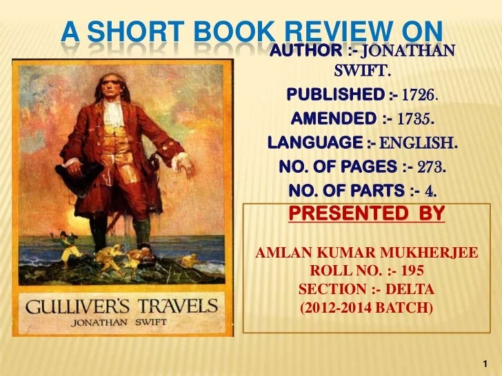 A short book review of Gullivers Travells