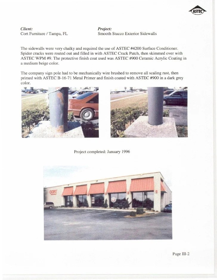 Astec Exterior Wall Projects