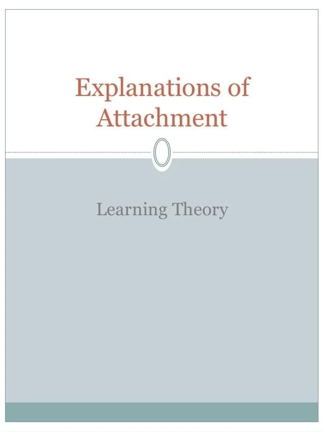 Attachment psychology