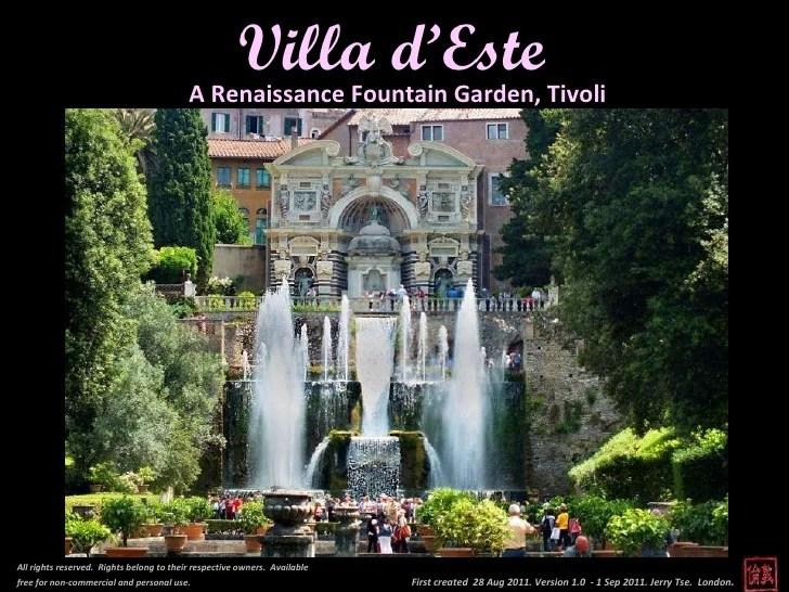 Villa D Este Tivoli Rome
