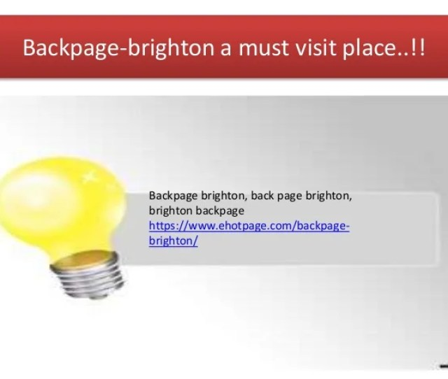 Backpage Brighton A Must Visit Place Backpage Brighton Back Page