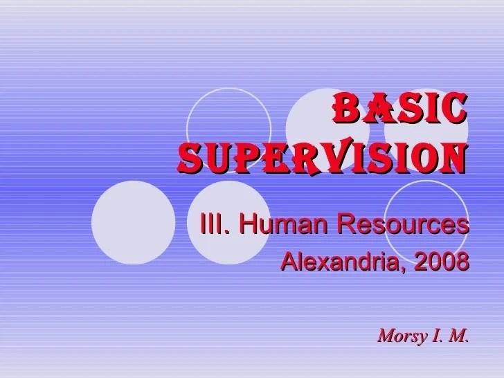 Basic Supervision Hr