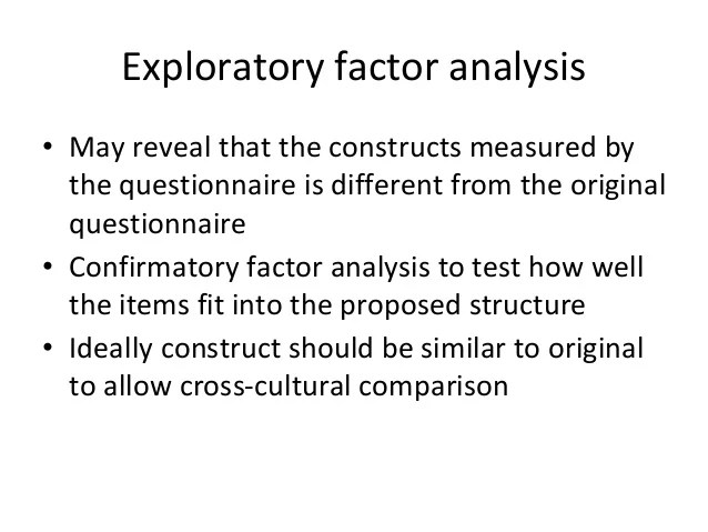 Basic concepts of validation