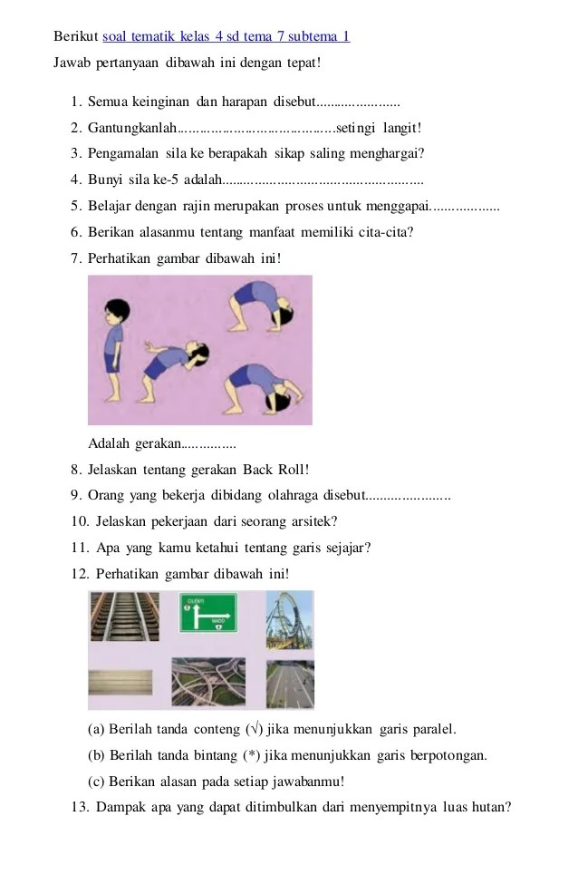 Buku pjok kelas 2 sd/mi ini ditulis oleh suwandi, fendi fengky bamar oktanto, dan masturi dengan … Download Bupena Kelas 4 - Ilmu Soal