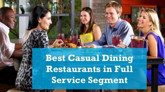 Top Casual Dining Restaurants