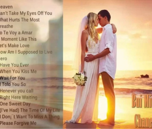 Best English Love Songs Part 2  Cant Take My Eyes Off You 3 What