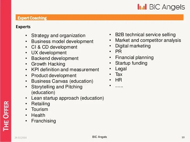 BIC101 Acceleration Program
