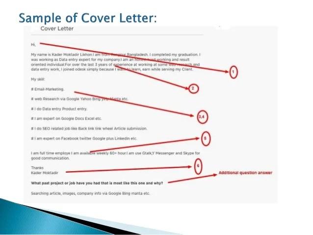 Cover Letter For Upwork Yorte